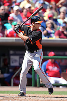 Baltimore Orioles Nick Green #6 during a spring training game vs. the Philadelphia Phillies at Bright House Field in Clearwater, Florida;  March 8, 2011.  Philadelphia defeated Baltimore 4-3.  Photo By Mike Janes/Four Seam Images