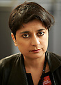 Shami Chakrabarti, lawyer and barrister for the Home Office  at Oxford Literary Festival  at Sheldonian Theatre Oxford  2014 CREDIT Geraint Lewis
