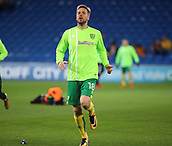 1st December 2017, Cardiff City Stadium, Cardiff, Wales; EFL Championship Football, Cardiff City versus Norwich City; Marco Stiepermann of Norwich City warming up