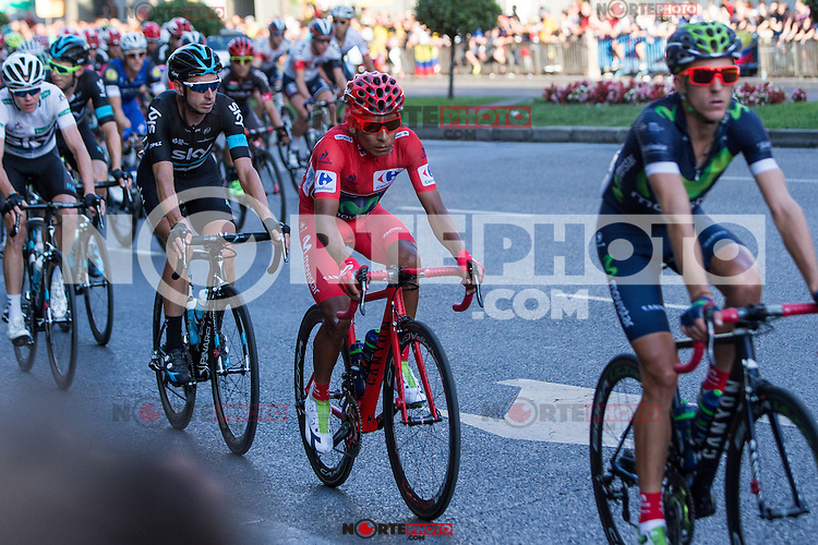 Colombian cyclist Nairo Quintana of Movistar team during the last stage or La Vuelta of Spain in Madrid. September 10, 2016. (ALTERPHOTOS/Rodrigo Jimenez) NORTEPHOTO.COM