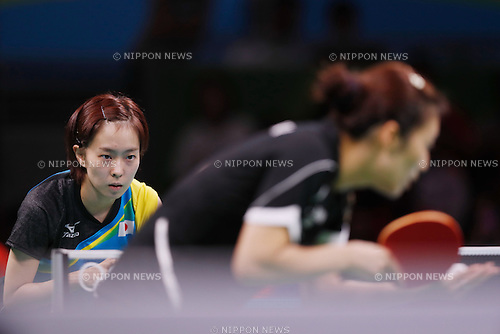 Kasumi Ishikawa (JPN), <br /> AUGUST 14, 2016 - Table Tennis : <br /> Women's Team Semi-final <br /> at Riocentro - Pavilion 3 <br /> during the Rio 2016 Olympic Games in Rio de Janeiro, Brazil. <br /> (Photo by Sho Tamura/AFLO SPORT)