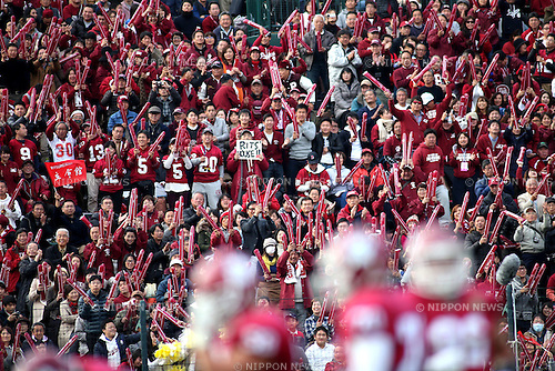 "Ritsumeikan University fans, DECEMBER 13, 2015 - American Football : All Japan American Football college Championship final match ""Koshien Bowl"" between Waseda University ""Big Bears"" 27 - 28 Ritsumeikan University ""Panthers"" at Koshien Stadium in Hyogo, Japan. (Photo by AFLO)"