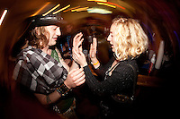 Foxy Shazam hanging out after the show with fans at The Loft in Lansing, Michigan on April 30, 2012. © Joe Gall / MediaPunch Inc.