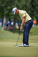 Billy Horschel (USA) watches his putt on 1 during Round 2 of the Zurich Classic of New Orl, TPC Louisiana, Avondale, Louisiana, USA. 4/27/2018.<br /> Picture: Golffile | Ken Murray<br /> <br /> <br /> All photo usage must carry mandatory copyright credit (&copy; Golffile | Ken Murray)