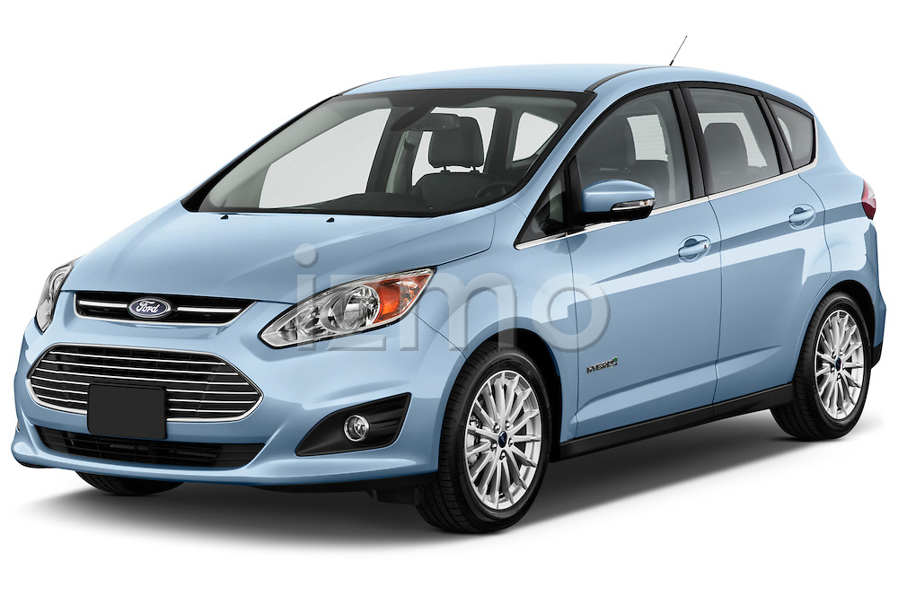 Front three quarter view of 2013 Ford C Max Hybrid SEL Stock Photo