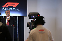 31st October 2019; Circuit of the Americas, Austin, Texas, United States of America; F1 United States Grand Prix, team arrival day; 2021 Regulation Press Conference, Chase Carey, Chief Executive Officer of the Formula One Group - Editorial Use