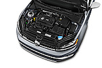 Car Stock 2017 Volkswagen Golf-Alltrack SEL 5 Door Wagon Engine  high angle detail view