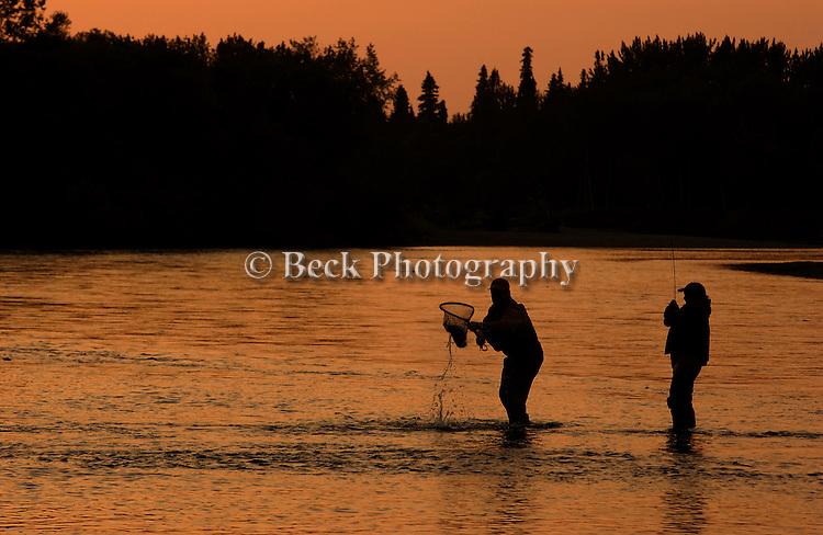 Evening on the Aniak River, Alaska
