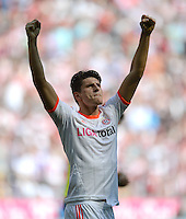 FUSSBALL   1. BUNDESLIGA  SAISON 2011/2012   33. Spieltag FC Bayern Muenchen - VfB Stuttgart       28.04.2012 Mario Gomez (FC Bayern Muenchen)