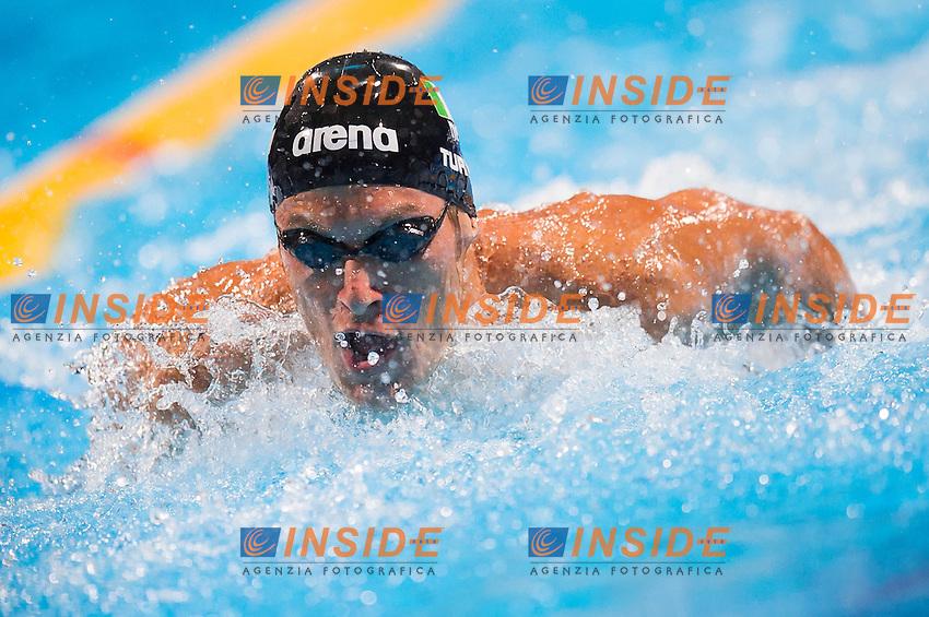 Federico Turrini ITA<br /> Men's 400m individual medley heats<br /> Swimming<br /> 15th FINA World Aquatics Championships<br /> Palau Sant Jordi, Barcelona (Spain) 04/08/2013 <br /> &copy; Giorgio Perottino / Deepbluemedia.eu / Insidefoto