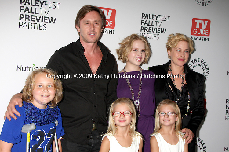 Medium Cast (Maria Lark, Jake Weber, Sofia Vassilieva, Patricia Arquette, and Miranda & Madison Carabello) arriving at the PaleyFest:  CBS Fall TV Preview at the Paley Center for Media in Beverly Hills, CA on September 10, 2009.©2009 Kathy Hutchins / Hutchins Photo