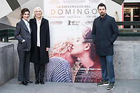 Actress Barbara Lennie, Susi Sanchez and director of the film Ramon Salazar attends to the presentation of the film 'La Enfermedad del Domingo' at Princesa Cinemas in Madrid , Spain. February 22, 2018. (ALTERPHOTOS/Borja B.Hojas) /NortePhoto.com