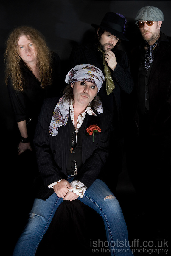 The Quireboys Beautiful Curse Album Cover Shoot