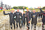Pictured at the Tralee Tri Grand Prix Triathlon  on Saturday morning were front l-r: Padraig Kelly, James Johnston, Amy Ni Chiardubháin, Doug Victor and Liam Counihan (all Tralee) who took part in the Tralee Grand Tri on Saturday morning.