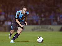 Stephen McGinn of Wycombe Wanderers in action during the Capital One Cup match between Wycombe Wanderers and Fulham at Adams Park, High Wycombe, England on 11 August 2015. Photo by Andy Rowland.