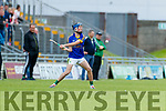 Kilmoyley in action against Shane Conway Lixnaw in the Kerry County Senior Hurling championship Final between Kilmoyley and Lixnaw at Austin Stack Park on Sunday.