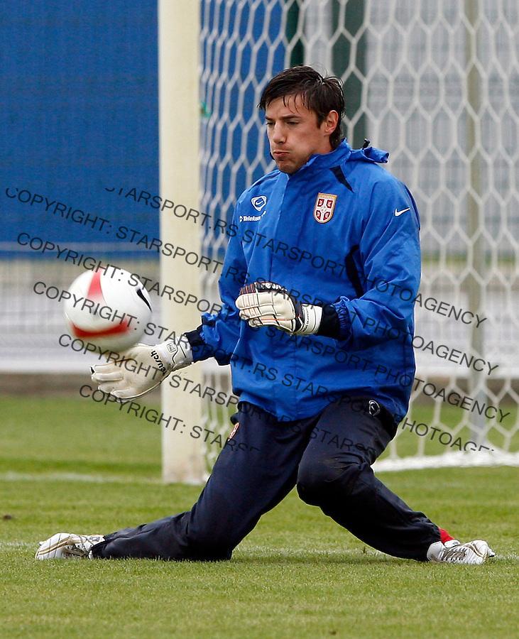 Fudbal,  trening u okviru priprema za kavlifikacije za EURO 2008, Svajcarska-Austrija.goalkeeper Vlada Avramov.Beograd, 10.10..2007..foto: Srdjan Stevanovic