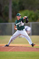 Michigan State Spartans starting pitcher Andrew Gonzalez (34) delivers a pitch during a game against the Illinois State Redbirds on March 8, 2016 at North Charlotte Regional Park in Port Charlotte, Florida.  Michigan State defeated Illinois State 15-0.  (Mike Janes/Four Seam Images)
