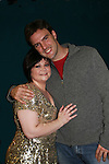 """OLTL - Kathy Brier - Marcie poses with boyfriend Jason Munt - The Divas of Daytime TV (three great soap stars, two great ABC soaps and one great show) - """"A Great Night of Music and Comedy"""" on November 7, 2008 at the Mishler Theatre, Altoona, PA with meet and greet, autographs and photo ops. Portion of proceeds to benefit Altoona Mirror Season of Sharing. Mid-Life Productions Inc in association with Creative Entertainment presents this great show. (Photo by Sue Coflin/Max Photos)"""