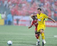 Stefani Miglioranzi (15) in action at  BMO Field on Saturday September 13, 2008. .The game ended in a 1-1 draw.