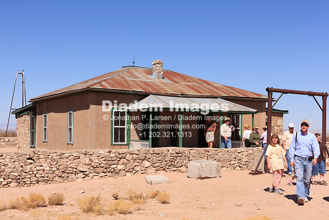 The historic McDonald Ranch House at Trinity Site, a remote area of New Mexico where the world's first nuclear device was assembled for testing.  The device was exploded nearby in 1945.