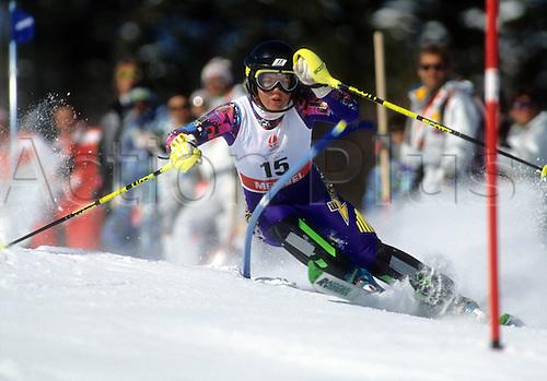 20 02 1992  Pernilla Wiberg SwedenOlympic Games Albertville 1992 Winter Games Ski Alpine Skiing Slalom Val D Isere Disere