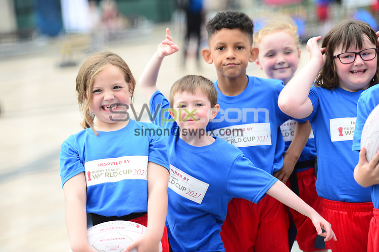 Picture by Simon Wilkinson/SWpix.com 16/07/2018 - Rugby League World Cup 2021 RLWC2021 - Facilities Legacy Programme Launch Event Media City Salford