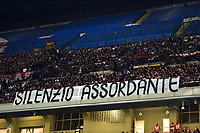 Milan supporters protest <br /> Milano 29/09/2019 Stadio Giuseppe Meazza <br /> Football Serie A 2019/2020 <br /> AC Milan - ACF Fiorentina   <br /> Photo Image Sport / Insidefoto