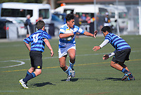 Action from the 2019 Hurricanes Secondary Schools Under-14 Boys' Rugby Tournament match between St Patrick's College Silverstream and Nelson College at Wakefield Park in Wellington, New Zealand on Monday, 2 September 2018. Photo: Dave Lintott / lintottphoto.co.nz