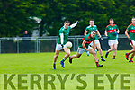 Eddie Horan St Kierans gets his shot away from Mike Breen Mid Kerry during their SFC clash in Brosna on Saturday