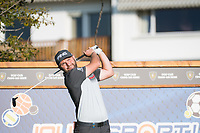 Andy Sullivan (ENG) watches his tee shot on the 12th hole during second round at the Omega European Masters, Golf Club Crans-sur-Sierre, Crans-Montana, Valais, Switzerland. 30/08/19.<br /> Picture Stefano DiMaria / Golffile.ie<br /> <br /> All photo usage must carry mandatory copyright credit (© Golffile | Stefano DiMaria)