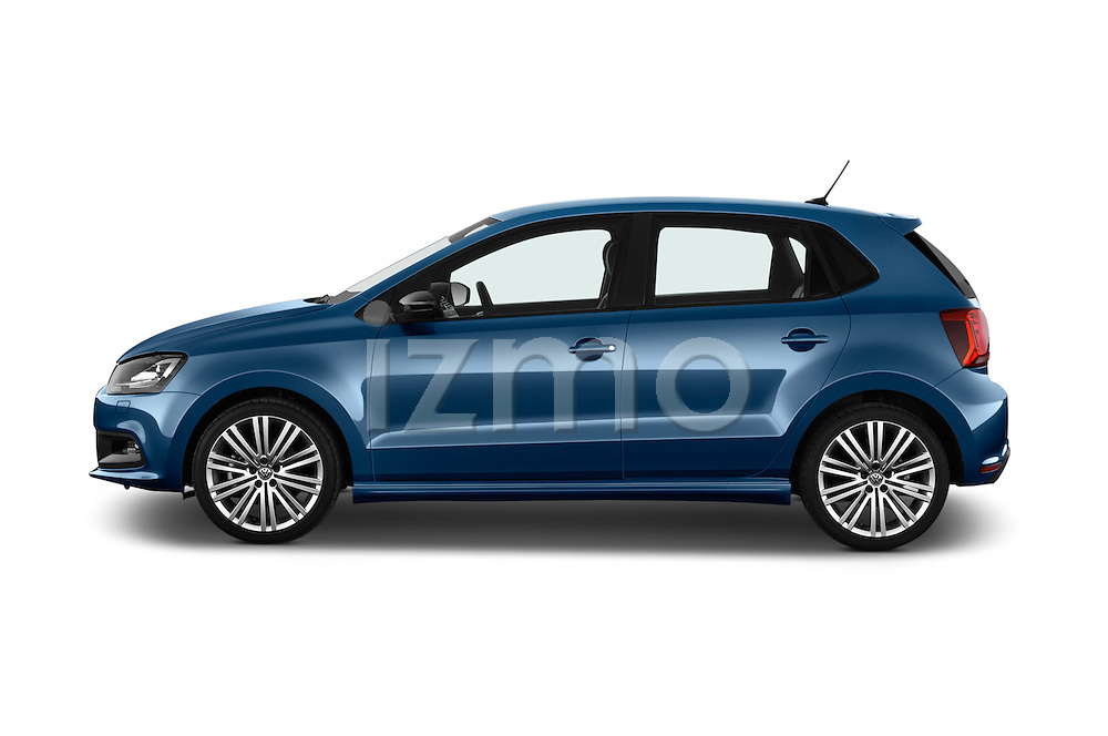 Car Driver side profile view of a 2016 Volkswagen Polo Blue-GT 5 Door Hatchback Side View