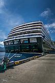 ALASKA, Ketchikan, ALASKA, Ketchikan, the cruise ship, ms Oosterdam, downtown at Port
