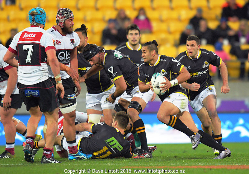 Tomasi Palu in action during the Mitre 10 Cup rugby union match between Wellington Lions and North Harbour at Westpac Stadium, Wellington, New Zealand on Saturday, 3 September 2016. Photo: Dave Lintott / lintottphoto.co.nz