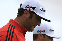 Jon Rahm (ESP) in deep concentration walking up the 17th during Round 4 of the Open de Espana 2018 at Centro Nacional de Golf on Sunday 15th April 2018.<br /> Picture:  Thos Caffrey / www.golffile.ie<br /> <br /> All photo usage must carry mandatory copyright credit (&copy; Golffile | Thos Caffrey)