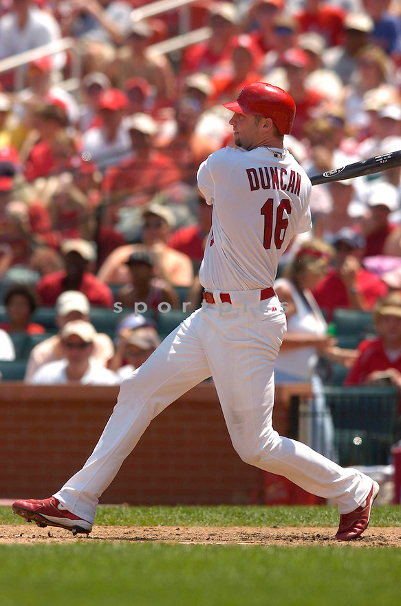 Chris Duncan, of the St. Louis Cardinals, in action against the Los Angeles Dodgers on July 16, 2006 in Chicago...Cards win 11-3..Chris Bernacchi/ SportPics
