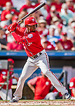 24 February 2019: Washington Nationals top prospect outfielder Victor Robles at bat during a Spring Training game against the St. Louis Cardinals at Roger Dean Stadium in Jupiter, Florida. The Nationals defeated the Cardinals 12-2 in Grapefruit League play. Mandatory Credit: Ed Wolfstein Photo *** RAW (NEF) Image File Available ***
