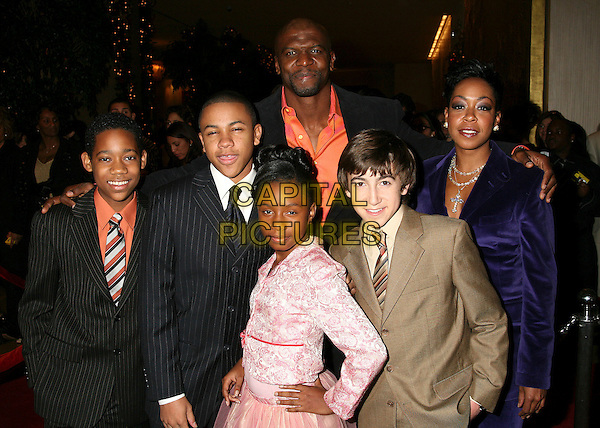 "CAST OF ""EVERYBODY HATES CHRIS"" - TYLER JAMES WILLIAMS, TEQUAN RICHMOND, TERRY CREWS, TICHINA ARNOL, IMANI HAKIM & VINCENT MARTELLA.The 8th Annual Family Television Awards at the Beverly Hilton Hotel, Beverly Hills, California, USA..November 29th, 2006.half length black dress suit jacket pink brown beige purple.CAP/ADM/BP.©Byron Purvis/AdMedia/Capital Pictures"