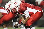 Lawndale, CA 10/01/10 - Martin Ramirez (Lawndale #78) in action during the Peninsula-Lawndale Varsity football game.