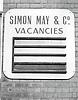 Vacancies sign, Nottingham UK 1982