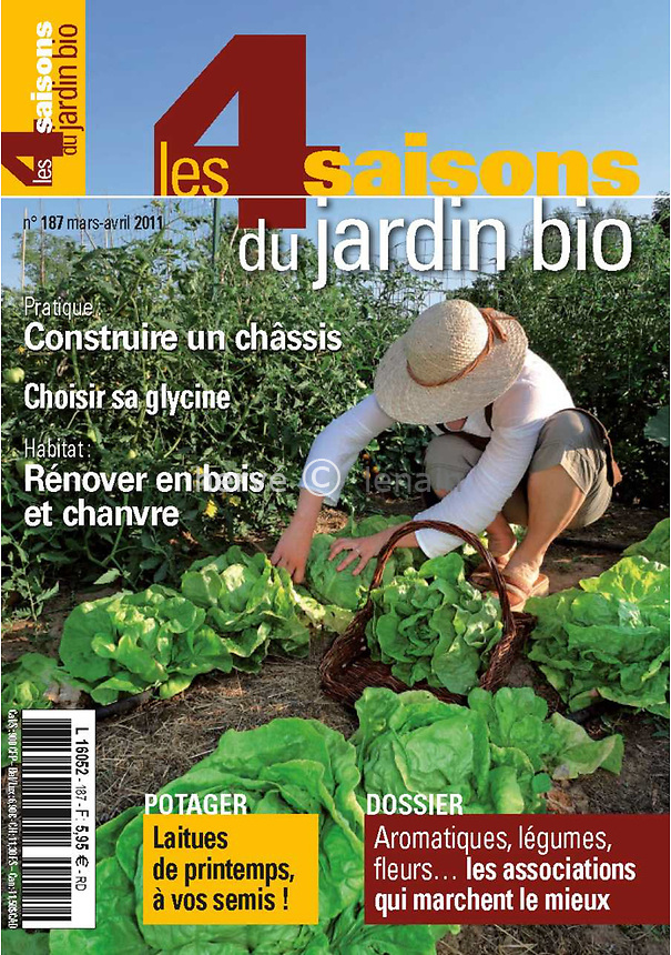 Parution magazine // Publication in magazine<br /> Les 4 saisons du jardinage (mars-avril 2011)