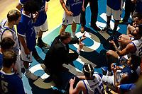 ZWOLLE - Basketbal, Landstede - Donar,  Dutch Basketball League, seizoen 2017-2018, 20-01-2018,  Landstede coach  Herman van den Belt probeert zijn ploeg op de goede weg te krijgen