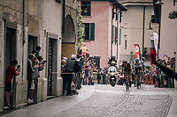 breakaway group during the local lap in Iseo<br /> <br /> stage 17: Riva del Garda - Iseo (155 km)<br /> 101th Giro d'Italia 2018