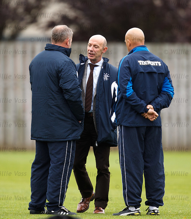 Doctor Paul Jackson with Ally McCoist and Kenny McDowall