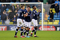Tim Cahill celebrates Millwall's 1-0 victory at the final whistle during Millwall vs Brentford, Sky Bet EFL Championship Football at The Den on 10th March 2018
