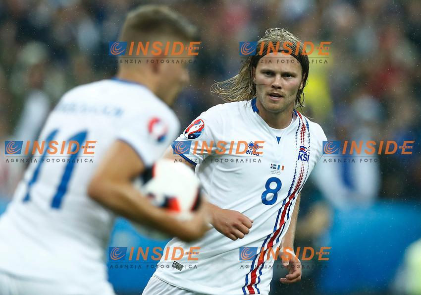 Bikir Bjarnason (Iceland) after a goal<br /> Paris 03-07-2016 Stade de France Football Euro2016 France - Iceland / Francia - Islanda Quarter finals <br /> Foto Matteo Ciambelli / Insidefoto