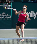 Andrea Petkovic (GER) defeats Sabine Lisicki (GER) 6-1, 6-0 at the Family Circle Cup in Charleston, South Carolina on April 3, 2014.