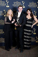PASADENA - May 5: Roslyn Kind, Harlan Boll, Joely Fisher in the press room at the 46th Daytime Emmy Awards Gala at the Pasadena Civic Center on May 5, 2019 in Pasadena, California