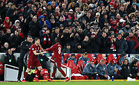 Liverpool's Naby Keita is replaced by James Milner<br /> <br /> Photographer Rich Linley/CameraSport<br /> <br /> UEFA Champions League Round of 16 First Leg - Liverpool and Bayern Munich - Tuesday 19th February 2019 - Anfield - Liverpool<br />  <br /> World Copyright © 2018 CameraSport. All rights reserved. 43 Linden Ave. Countesthorpe. Leicester. England. LE8 5PG - Tel: +44 (0) 116 277 4147 - admin@camerasport.com - www.camerasport.com