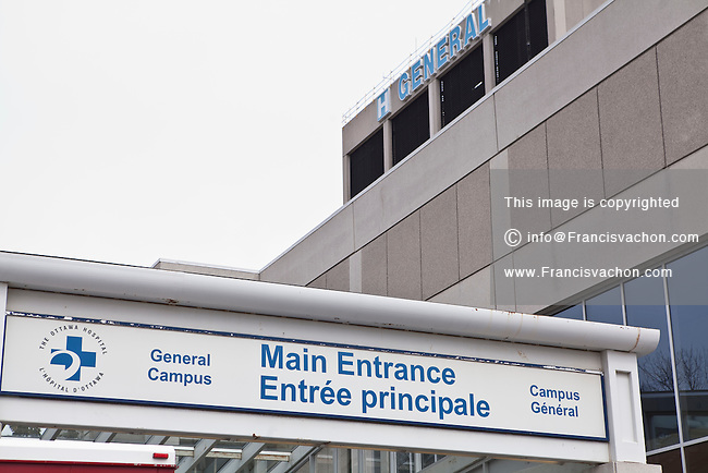 The General Campus of The Ottawa Hospital is pictured in Ottawa Wednesday April 25, 2012.